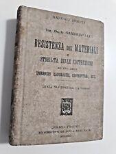 RESISTENZA DEI MATERIALI E STABILITà DELLE COSTRUZIONI Sandrinelli Hoepli 1911