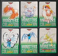 Pokemon 1995 Scyther & Others Carddass Lot PL-LP (P) Japanese