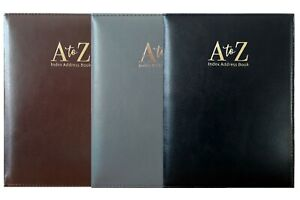 Executive Large Index Book Style Padded A to Z Address Book 18cm x 24Cm (W x L)