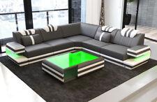Sofa Luxury Couch Corner Ragusa L FORM DESIGNER Leather Led Lighting