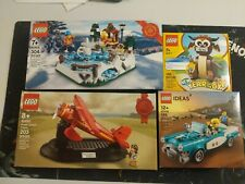 Lego Lot of 4 Promotional Sets 40417 40448 40450 40416 vintage car earhart ox