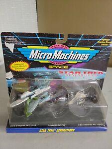 STAR TREK GENERATIONS MICRO MACHINES DIE-CAST MINIATURES Galoob 1994 NEW Vintage