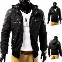 Giacca Invernale giacca pelle da motociclista in pelle trapuntata progettazione
