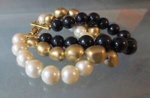 vintage faux pearl bracelet
