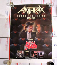 Anthrax Vintage 88 Among The Living World Tour W/ Metal Church Poster 24Wx34.5L