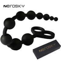 Zerosky Silicone Anal Beads_Chain Prostate Massage Pull_Ring Love_Toy Butt_Plugs