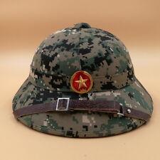VIETNAM WAR HAT NVA VIETCONG VC PITH HELMET JUNGLE EXPLORER CAP Marpat Woodland