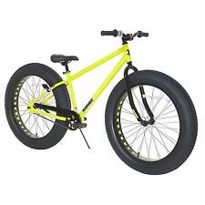 "Krusher Men's 26"" Fat Tire Mountain Bike - Yellow"