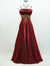 Cherlone Plus Size Red Long Prom Ballgown Wedding Evening Bridesmaid Dress 22-24