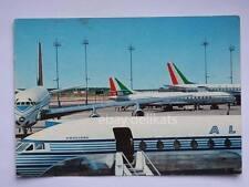 ALITALIA AIRLINES DC 8 aereo vecchia cartolina