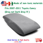 Leather Center Console Lid Armrest Cover Skin Gray For 2007-2011 Toyota Camry