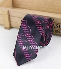 FREE GIFT BAG Men's Wear Black Music Tie New Year Xmas Christmas Party Novelty