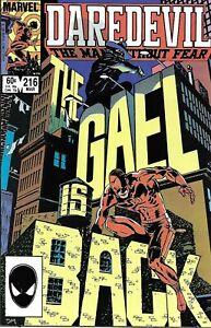 Daredevil Comic 216 Copper Age First Print 1985 Denny O'Neil David Mazzucchelli