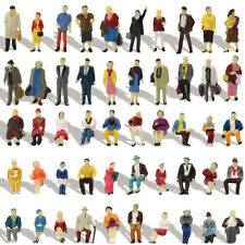 100pcs HO Scale Seated Standing People 1:87 Figures Passenger Model Accessory