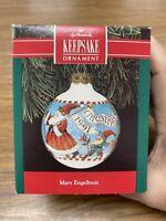 1991 Mary Engelbreit Hallmark Keepsake Ornament Christmas Santa Elf Reindeer