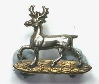 Boer war era Bedfordshire Regiment Collar Badge L/H 2.6 x 2.3 cm's