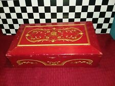 Vintage Princess Marcella Borghese Wooden Jewelry Music Box