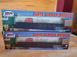 Lot of 2 ATLAS 885 HO Code 100 Plate Girder Bridge Kit NEW in Box