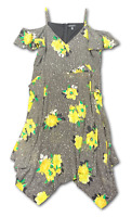 New, 129.50 Value! INC Interntional Concept 18W Black Floral Halter Top Dress
