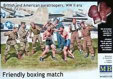 "Masterbox 1:35 ""Friendly Boxing Match"" British & American WWII Figures Model Kit"