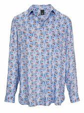 77269866 Damen Bluse Druckbluse von heine Größe 42 NEU hellblau Flamingo