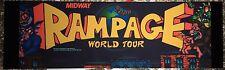 """Rampage World Tour Arcade Marquee 26""""x8"""""""
