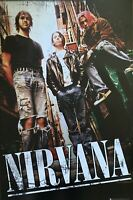 Nirvana Kurt Cobain Pink Hair Group Shot UK Import Poster 24 X 36