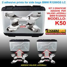Kit 2 adesivi borse valigie LATERALI K50 BMW R1200GS LC mimetico artico dal 2013