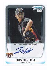 Luis Heredia 2011 Bowman Chrome Prospects Autograph RC Auto Signature Pirates