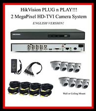 8TB HikVision 8Ch  HD-TVI System w/2MP TVI Cameras / Plug-N-Play!! w/SUPPORT!!