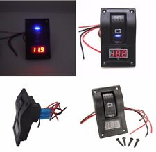 Abs Car Marine Boat Dual Battery Test Panel Rocker Switch On-Off-On & Voltmeter(Fits: More than one vehicle)