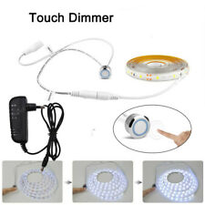 Touch Switch Dimmable 12V LED Strip Lights Tape Waterproof Under Closet Cabinet