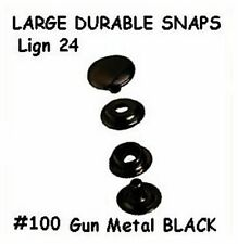 Quality! 10 Sets ~ Gun Metal Black ~ LEATHER Canvas SNAP Fastener KIT w/Tools