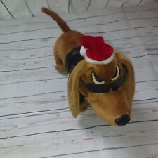 LOW RIDER By WAR Musical Animated Christmas Santa Hat Rocker Dachshund Dog 16""