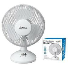 """9"""" OSCILLATING DESK FAN COOLING HOME OFFICE COOL AIR TABLE PORTABLE NEW"""