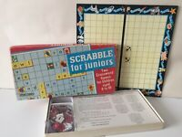 Spears Games Scrabble Juniors Vintage Retro 1958 Kids Family Tile Word Game Comp