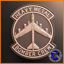 PVC HEAVY METAL BOMBER CREW PATCH, B-52, Desert Subdued, OIR 20th 96th 23d 69th