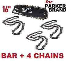 """16"""" Guide Bar & 4 Chains for Parker Brand Chainsaw PCS-5200 PCS-5800 PCS-6200"""