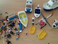 Playmobil - lot hélicoptères, véhicules, bateau  motos - Vintage
