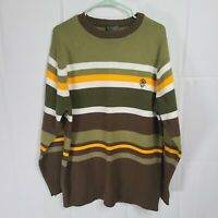 Southpole Authentic Collection Sweater Pullover Size Large Green Brown Yellow
