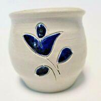 Williamsburg Pottery Salt Glaze Hand Thrown Planter Pot Handmade