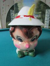 "VINTAGE METLOX Pinoccio Cookie Jar 1960s 12"" *"