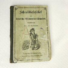 Antique 1800s German Elementary Primer School Book Lindemann