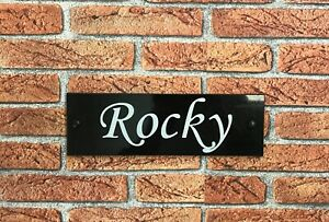"""Customised stable door horses name plaque sign signs plate 12""""x3"""""""