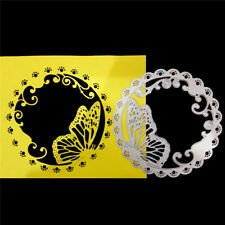 Butterfly Wreath Card Cover Decor Metal Cutting Dies for DIY Scrapbooking AGT