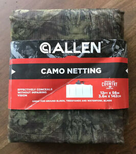 "Camouflage Netting Mossy Oak Break-Up Country (12' X 56"") by Allen Company"