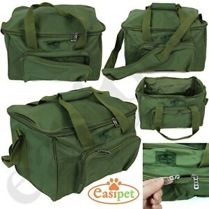 Carp Coarse Fishing Tackle Fish Bag Green Carryall Holdall Carry Strap Easipet