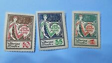 3 Stamps of Latvia, 1919,1 Year Anniversary of Independence, see pics