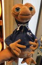 Universal Studios E.T.  Blue Sweater Hoodie Plush Doll New With Tag