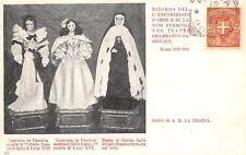 C4141) ROMA 1899 LAVORI FEMMINILI, BAMBOLE CRISTINA E CLOTILDE DI FRANCIA. VG